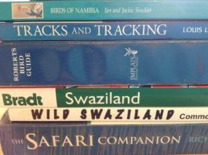 A pile of safari books