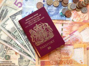 A passport and money