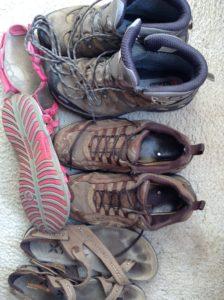 footwear on holiday