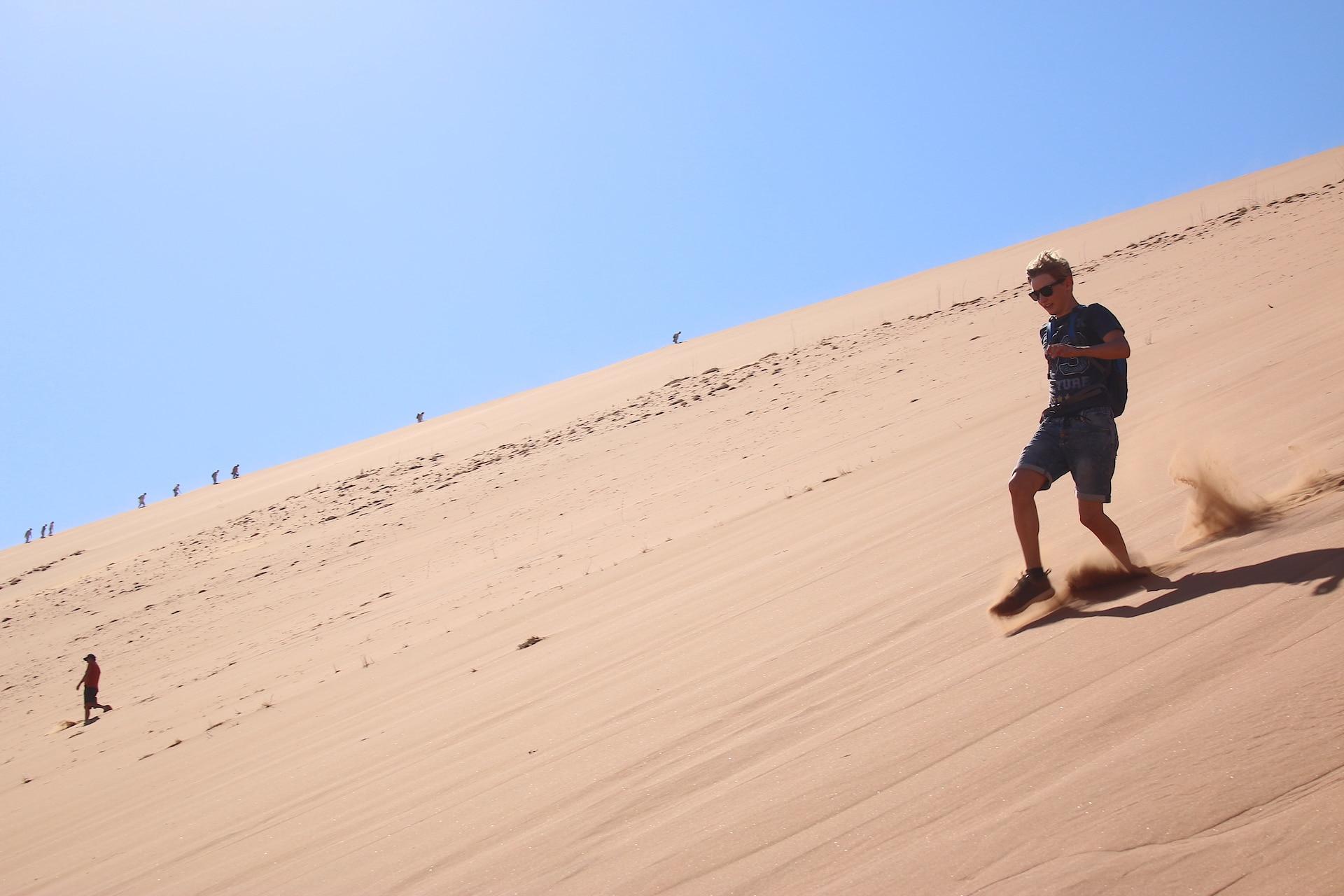 dune running in Sossusvlei