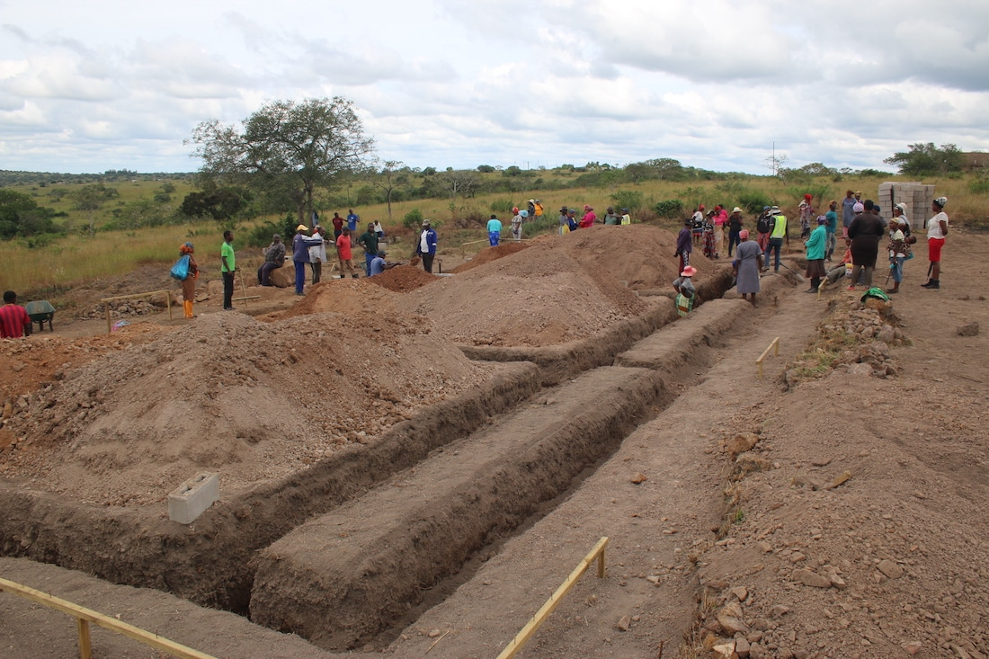 Mhlumeni school foundations