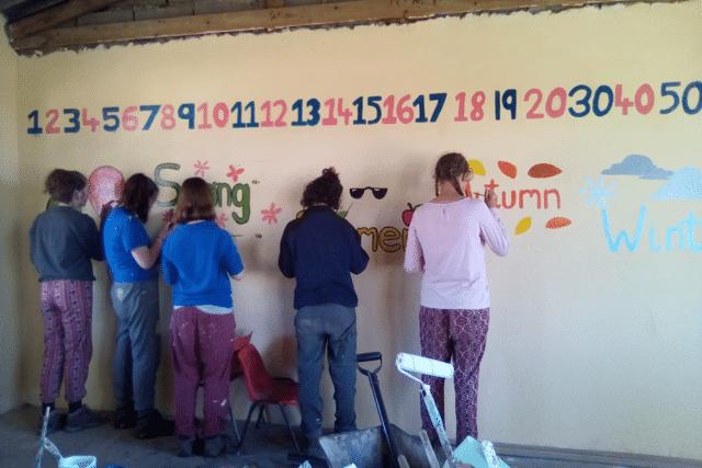 --Finishing to-uches to Mhlumeni Primary school